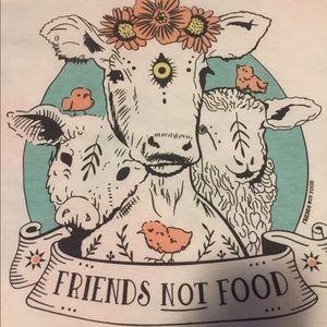 Friends not food white t shirt